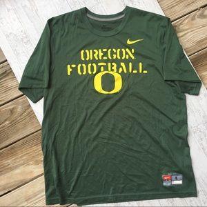 OREGON DUCKS NCAA Football Nike Tee Green Men L